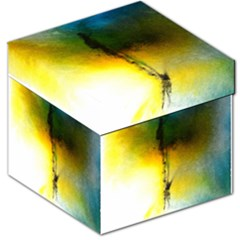 Watercolor Abstract Storage Stool 12