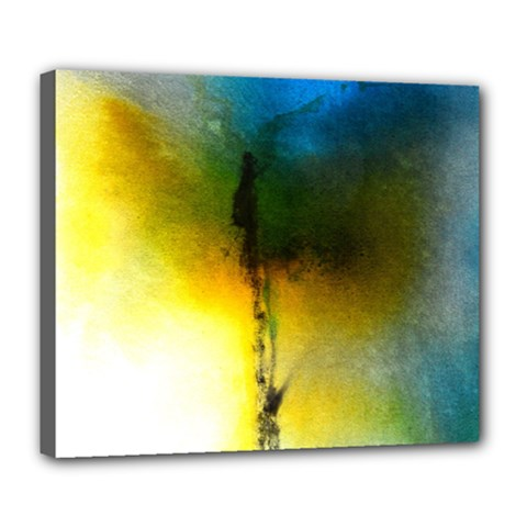Watercolor Abstract Deluxe Canvas 24  x 20