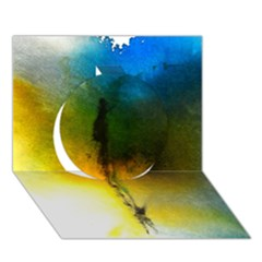 Watercolor Abstract Circle 3d Greeting Card (7x5)  by timelessartoncanvas