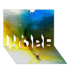 Watercolor Abstract HOPE 3D Greeting Card (7x5)