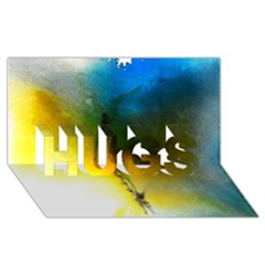 Watercolor Abstract HUGS 3D Greeting Card (8x4)