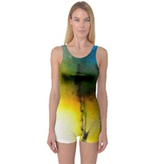 Watercolor Abstract Women s Boyleg One Piece Swimsuits
