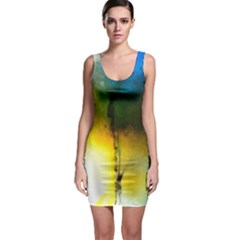 Watercolor Abstract Bodycon Dresses