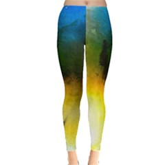 Watercolor Abstract Women s Leggings