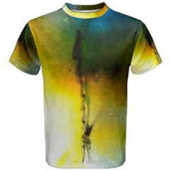 Watercolor Abstract Men s Cotton Tees