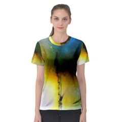 Watercolor Abstract Women s Sport Mesh Tees