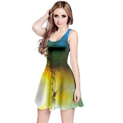 Watercolor Abstract Reversible Sleeveless Dresses