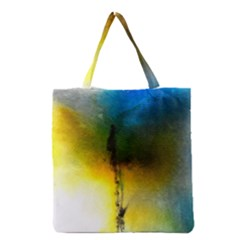 Watercolor Abstract Grocery Tote Bags