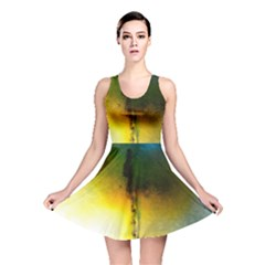 Watercolor Abstract Reversible Skater Dresses
