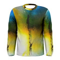 Watercolor Abstract Men s Long Sleeve T-shirts