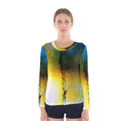 Watercolor Abstract Women s Long Sleeve T-shirts