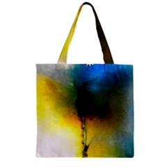 Watercolor Abstract Zipper Grocery Tote Bags