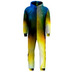 Watercolor Abstract Hooded Jumpsuit (Men)