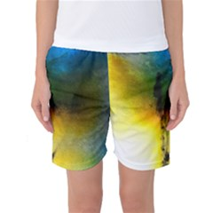 Watercolor Abstract Women s Basketball Shorts