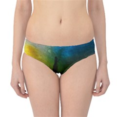 Watercolor Abstract Hipster Bikini Bottoms