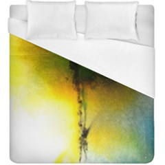 Watercolor Abstract Duvet Cover Single Side (KingSize)