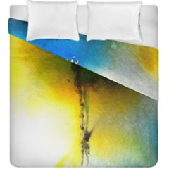 Watercolor Abstract Duvet Cover (King Size)