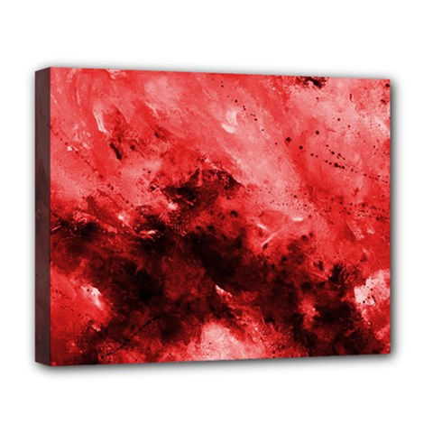 Red Abstract Deluxe Canvas 20  X 16