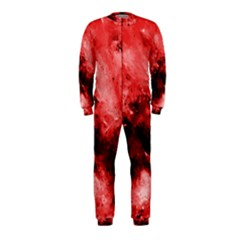 Red Abstract Onepiece Jumpsuit (kids)