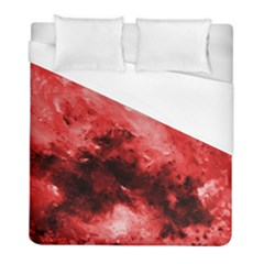Red Abstract Duvet Cover Single Side (twin Size) by timelessartoncanvas