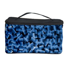 Blue Cubes Cosmetic Storage Cases by timelessartoncanvas