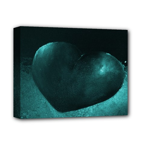 Teal Heart Deluxe Canvas 14  X 11  by timelessartoncanvas