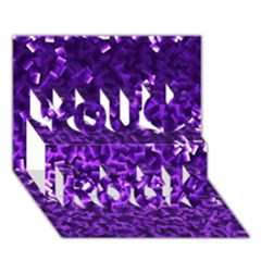 Purple Cubes You Rock 3d Greeting Card (7x5)