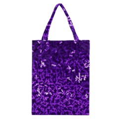 Purple Cubes Classic Tote Bags by timelessartoncanvas