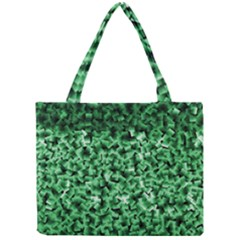 Green Cubes Tiny Tote Bags by timelessartoncanvas