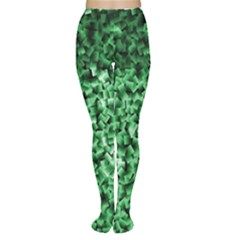 Green Cubes Women s Tights