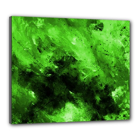 Bright Green Abstract Canvas 24  X 20