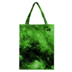 Bright Green Abstract Classic Tote Bags