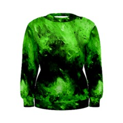 Bright Green Abstract Women s Sweatshirts
