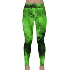 Bright Green Abstract Yoga Leggings