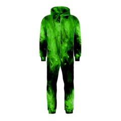Bright Green Abstract Hooded Jumpsuit (kids)
