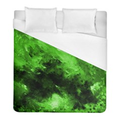 Bright Green Abstract Duvet Cover Single Side (twin Size)
