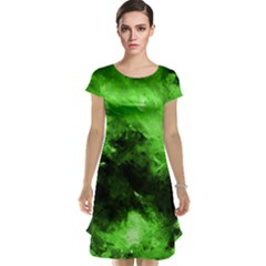 Bright Green Abstract Cap Sleeve Nightdresses