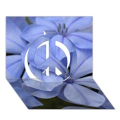 Bright Blue Flowers Peace Sign 3d Greeting Card (7x5)