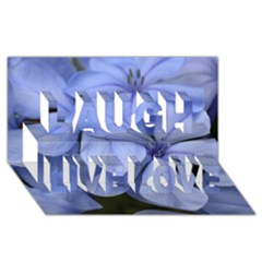 Bright Blue Flowers Laugh Live Love 3d Greeting Card (8x4)