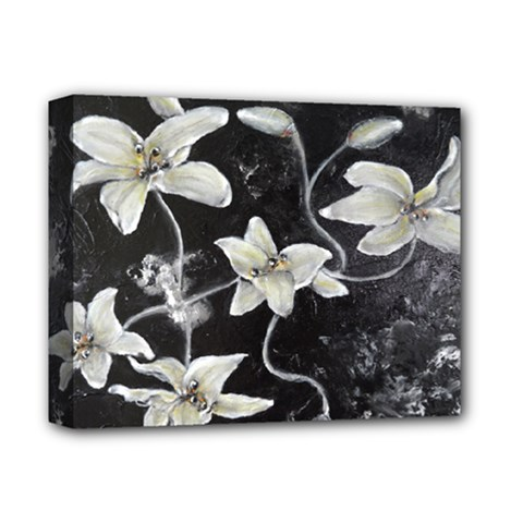Black And White Lilies Deluxe Canvas 14  X 11  by timelessartoncanvas