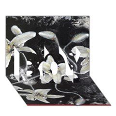 Black And White Lilies Boy 3d Greeting Card (7x5) by timelessartoncanvas