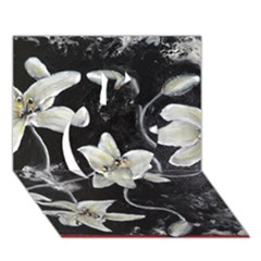 Black And White Lilies Apple 3d Greeting Card (7x5)