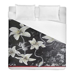 Black And White Lilies Duvet Cover Single Side (twin Size) by timelessartoncanvas