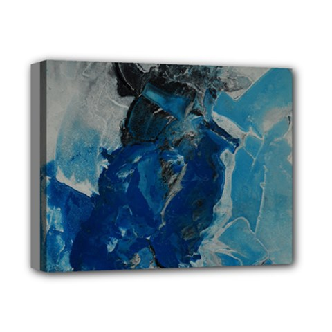 Blue Abstract Deluxe Canvas 14  X 11  by timelessartoncanvas