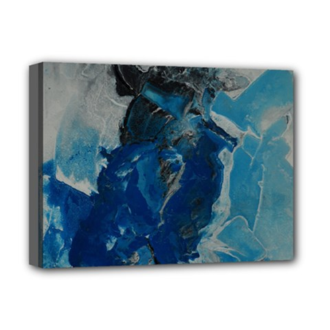 Blue Abstract Deluxe Canvas 16  X 12   by timelessartoncanvas