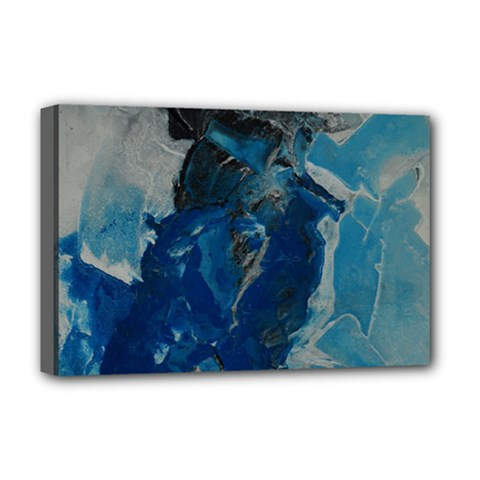 Blue Abstract Deluxe Canvas 18  X 12   by timelessartoncanvas