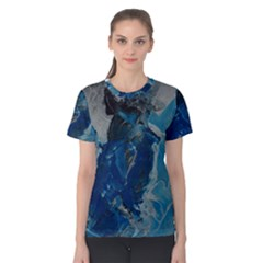 Blue Abstract Women s Cotton Tees
