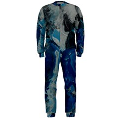 Blue Abstract Onepiece Jumpsuit (men)  by timelessartoncanvas