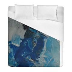 Blue Abstract Duvet Cover Single Side (twin Size) by timelessartoncanvas