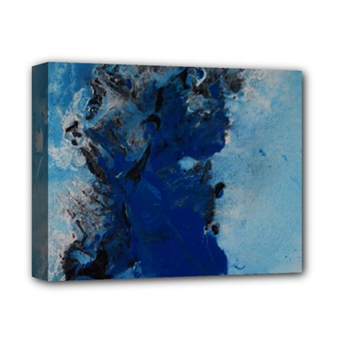 Blue Abstract No 2 Deluxe Canvas 14  X 11  by timelessartoncanvas